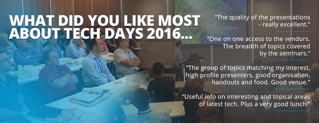 Tech Days 2016 testimonials