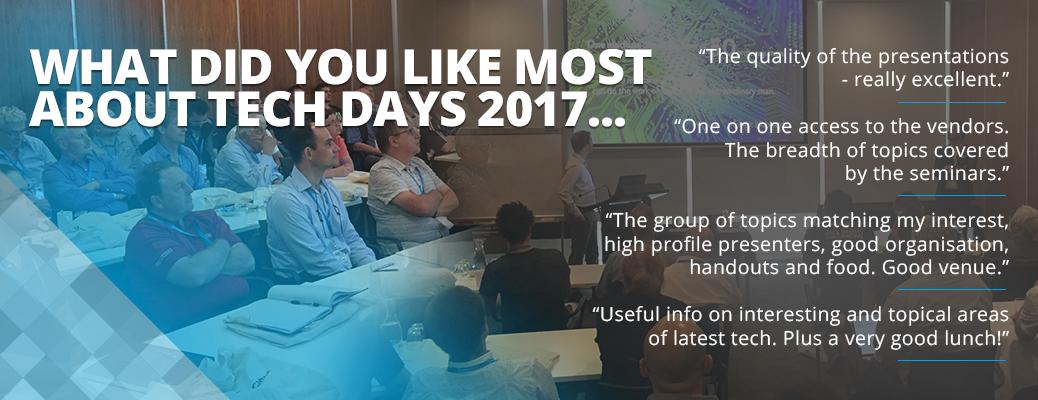 Tech Days 2017 testimonials