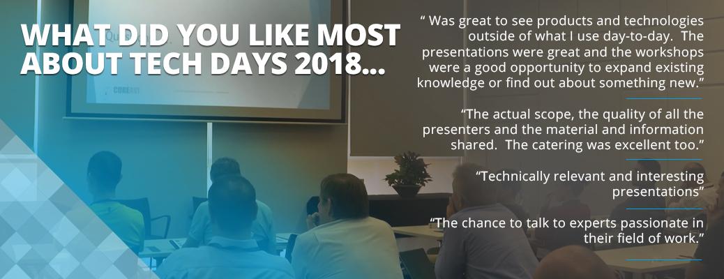Tech Days 2018 testimonials